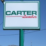 Carter Lumber New Signage by LAAD Sign & Lighting