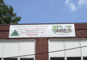 Chapel Hill Christian School Vinyl Banner