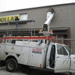 Dollar General Sign Install Amish Country Ohio
