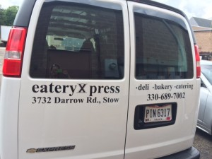 Eatery Xpress Delivery Van Lettering by LAAD Sign & Lighting
