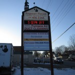 Ferguson's Fireside Outdoor Business Sign Canton Ohio