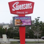 Swensen's Drive-In Electronic Message Center