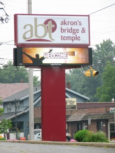 Electronic Message Center Specialty Sign Akron Ohio